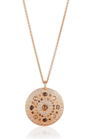 "De Beers ""halsband med stort diamantsmycke i 18K roséguld """"Talisman"""""""