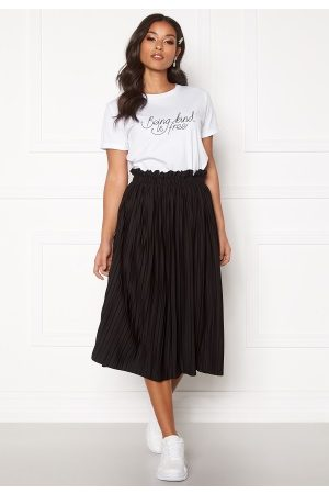 BUBBLEROOM Kvinna Midikjolar - Anna midi pleated skirt Black XS