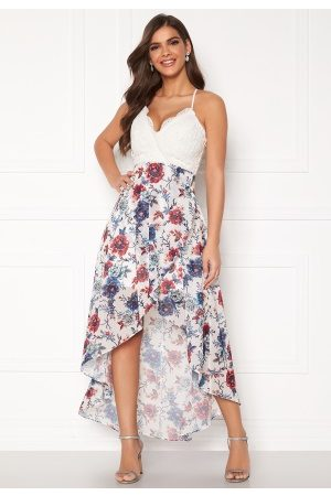 Chiara Forthi Floreale highlow dress Blue / White / Floral 36