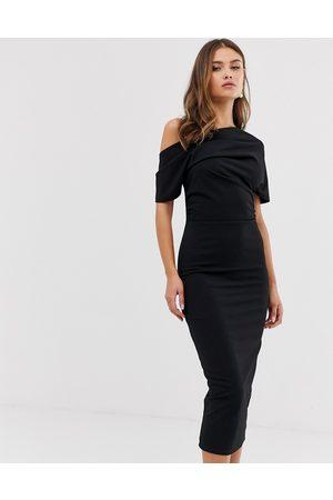 ASOS Kvinna Fodralklänningar - – fodralklänning med veck på axlarna