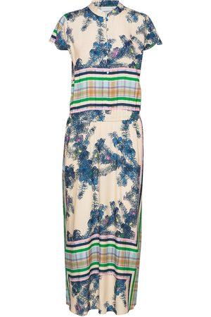 Coster Copenhagen Long Dress W. Buttons Maxiklänning Festklänning Blå
