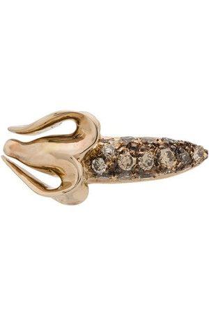 Bibi van der Velden Banana 18kt white gold diamond stud earring