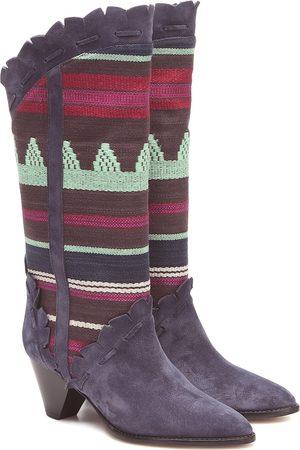 Isabel Marant Leesta suede-trimmed boots