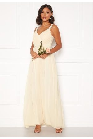 Moments New York Afrodite Chiffon Gown Champagne 42