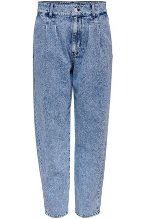 Only Kvinna High waist - Onlhavana Life Hw Carot Cropped Straight Fit-jeans Kvinna