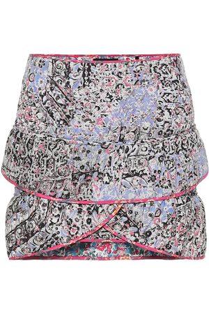 Isabel Marant Fanulia floral cotton-blend miniskirt