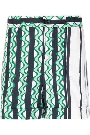 Neil Barrett Striped swim shorts