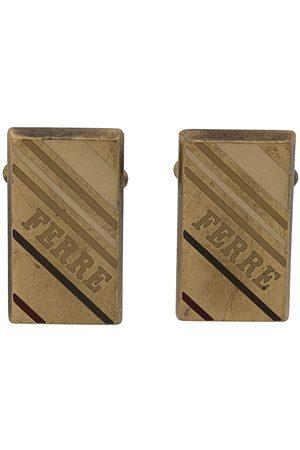 Gianfranco Ferré Rektangulära manschettknappar med logotyp