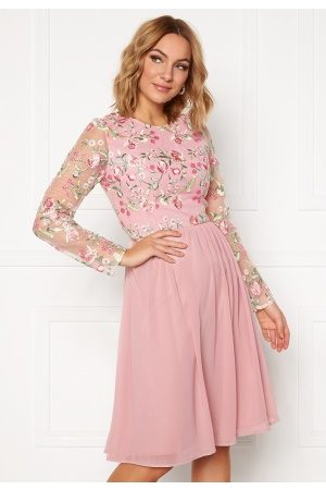 Chi Chi London Bee embroidered MidiDress Nude L (UK14)