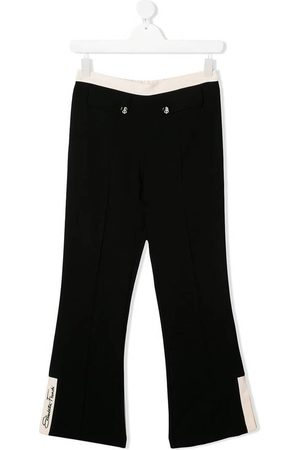 Elisabetta Franchi Contrast trousers with signature embroidery
