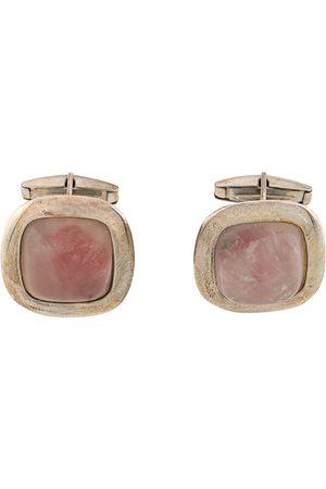Gianfranco Ferré Pre-Owned 2000s rose quartz cufflinks
