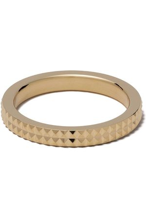 Le Gramme Pyramid Guilloche ring
