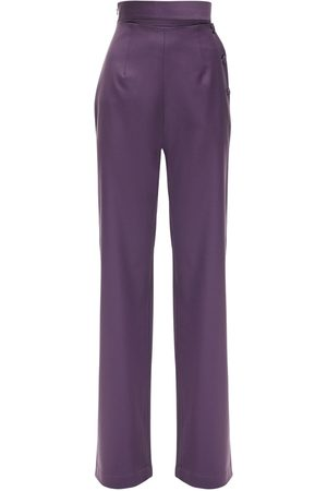 MATÉRIEL Cool Wool Wide Leg Pants W/ Side Buttons