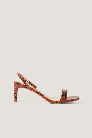 NA-KD Snake Basic Block Heel Sandals