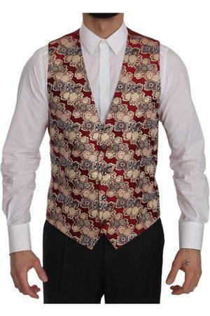 Dolce & Gabbana Jacquard Slim Fit Vest