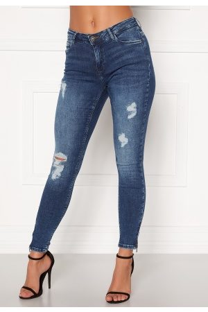 Noisy May Kvinna Skinny - Kimmy NW Ankle Jeans Medium Blue Denim 26/30