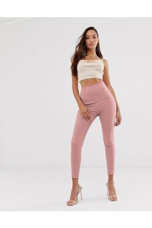 ASOS – Skinny fit byxor med hög midja