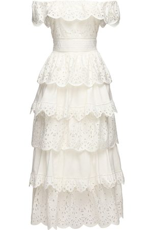 Zuhair Murad Cotton Lace Midi Dress