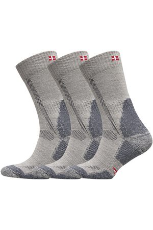 DANISH ENDURANCE Classic Merino Wool Hiking Socks 3 Pack Underwear Socks Regular Socks Multi/mönstrad