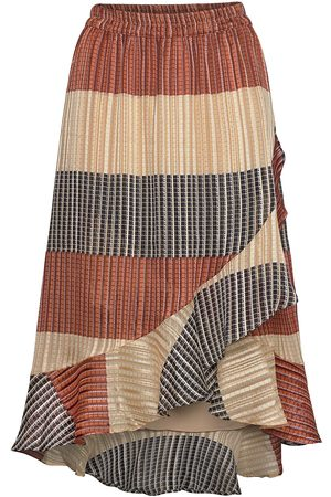 Second Female Board Mw Wrap Skirt Knälång Kjol Multi/mönstrad