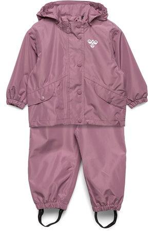 Hummel Hmlreva Rainsuit Mini Outerwear Rainwear Sets & Coveralls Blå