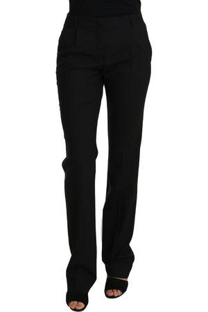 Dolce & Gabbana Wool Stretch Straight Pants