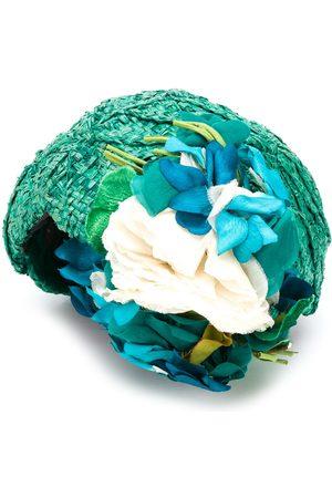 A.N.G.E.L.O. Vintage Cult Hatt med blomma från 1950-talet