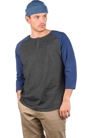 Kazane Barthol Long Sleeve T-Shirt charcoal hthr + navy hthr