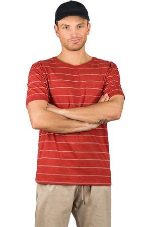 Kazane Moss T-Shirt red ochre + print