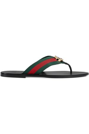 Gucci Man Sandaler - Men's thong sandal with Web
