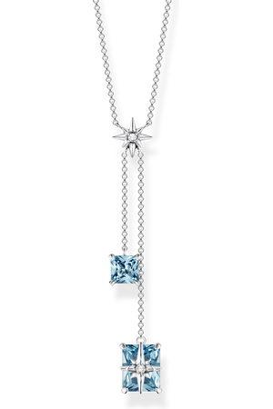 Thomas Sabo Kvinna Halsband - Halsband Stora blå stenar med stjärna