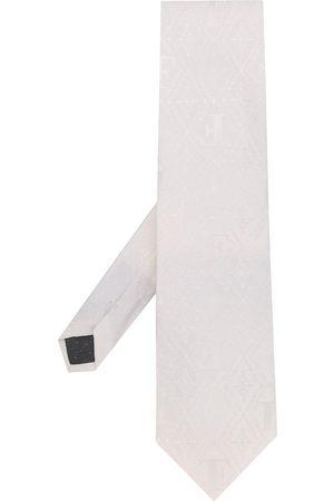 Gianfranco Ferré Vävd slips med logotyp