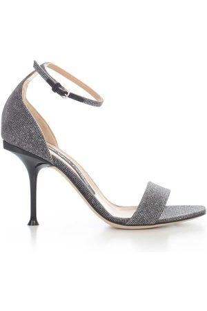 Sergio Rossi Milano Sandals Micro Glitter