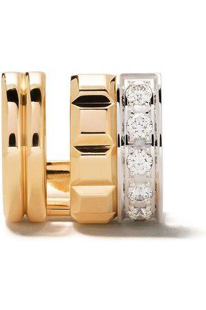 Boucheron Clipsörhänge i 18K gult guld och vitguld med diamant