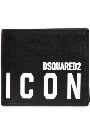 Dsquared2 Man Plånböcker - Print Icon Leather Coin Wallet