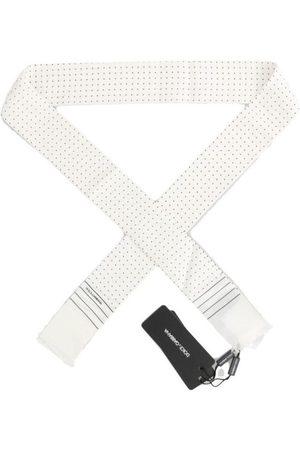 Dolce & Gabbana Polka Dotted Silk Skinny Scarf