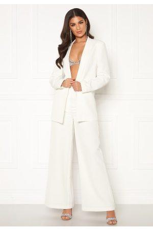 Nicole Falciani X Bubbleroom Kvinna Dressade byxor - Nicole Falciani Suit Pants White 38