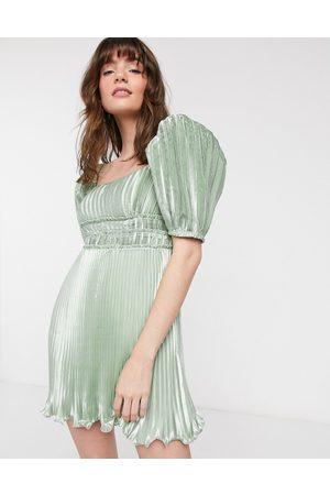 & OTHER STORIES Kvinna Festklänningar - – miniklänning i metallic med rosett baktill