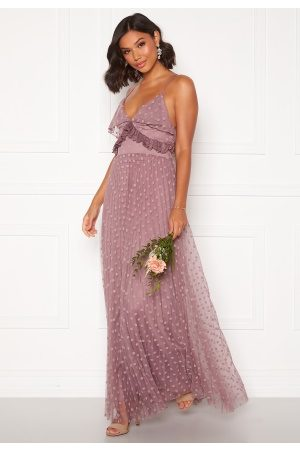 Moments New York Flora Frill gown Dusty lilac 36