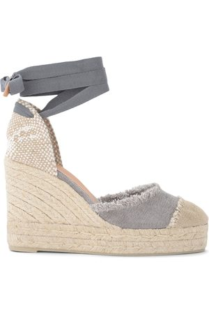 Castaner Sandal with Catalina wedge in canvas