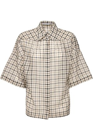 Agnona Wool & Silk Check Shirt