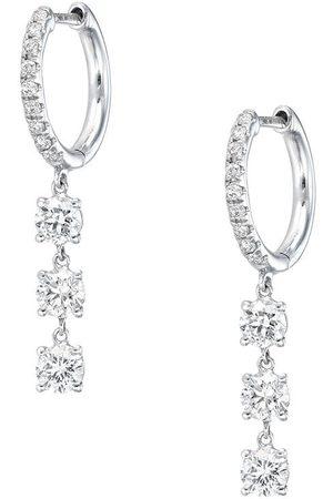 Anita 18K white gold diamond drop earrings