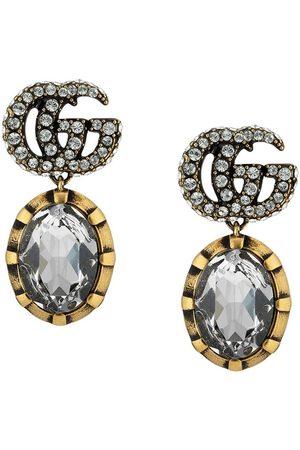 Gucci Logotypmönstrade kristallörhängen