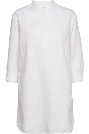 GAP Long Sleeve Shirtdress In Linen-Cotton Kort Klänning