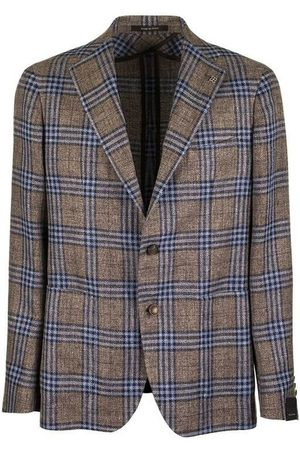 TAGLIATORE Large checked jacket blazer