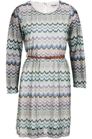 Dry Lake Ziczac Belt Short Dress
