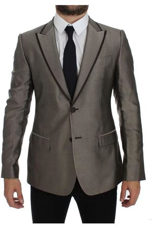 Dolce & Gabbana Slim Fit Silk Two Button Blazer
