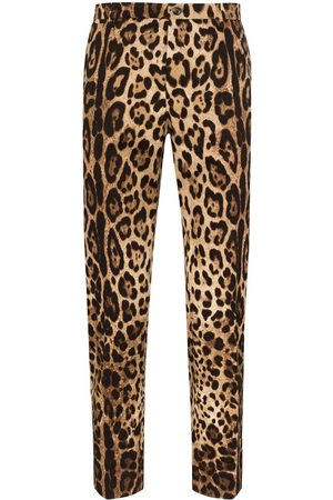 Dolce & Gabbana Leopardmönstrade byxor