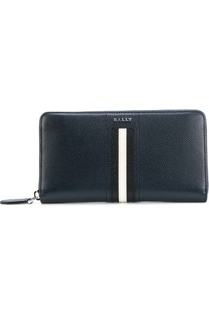 Bally Striped zip around wallet