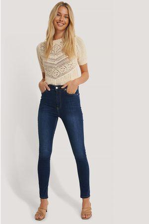 NA-KD Kvinna High waist - Skinny High Waist Jeans